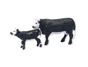 Black Baldy Cow & Calf Toy