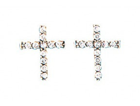 Montana Silversmith's Small Cross Earrings with Cubic Zirconia
