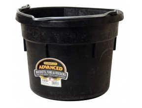 18 Quart Rubber Flat Back Pail