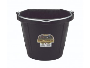 20 Quart Flat Back Rubber Bucket