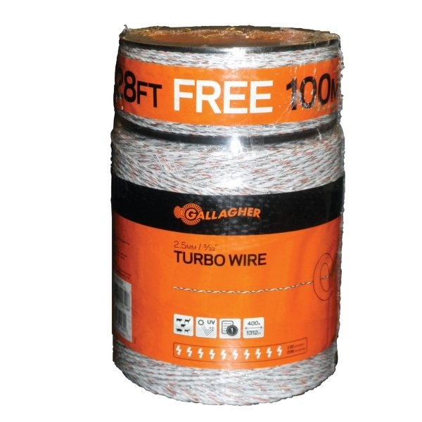 Turbo Fence White Electric Wire