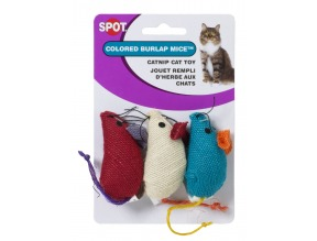 Burlap Mice Cat Toy