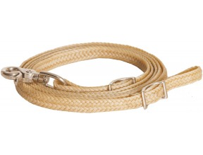 1/2″ X 8′ Waxed Braided Roping Rein With Nickel Plated Hardware