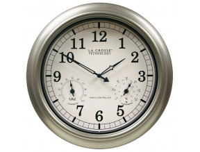 "18"" Indoor/Outdoor Atomic Analog Wall Clock"