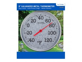 "8"" Galvanized Metal Thermometer"