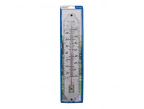 "19.25"" Galvanized Metal Thermometer"
