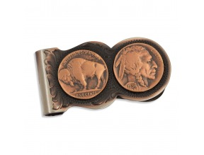 Montana Silversmith's Scalloped Vintage Bronze Buffalo Nickel Money Clip