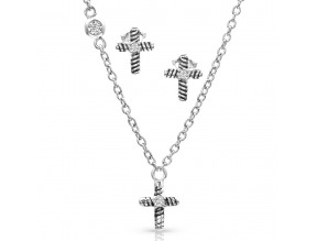 Montana Silversmith's Strong Faith Cross Mini Jewelry Set