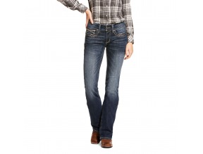 Ariat R.E.A.L. Mid Rise Stretch Entwined Festival Boot Cut Jean