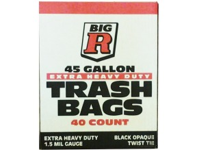 Big R 45 Gallon Trash Bags