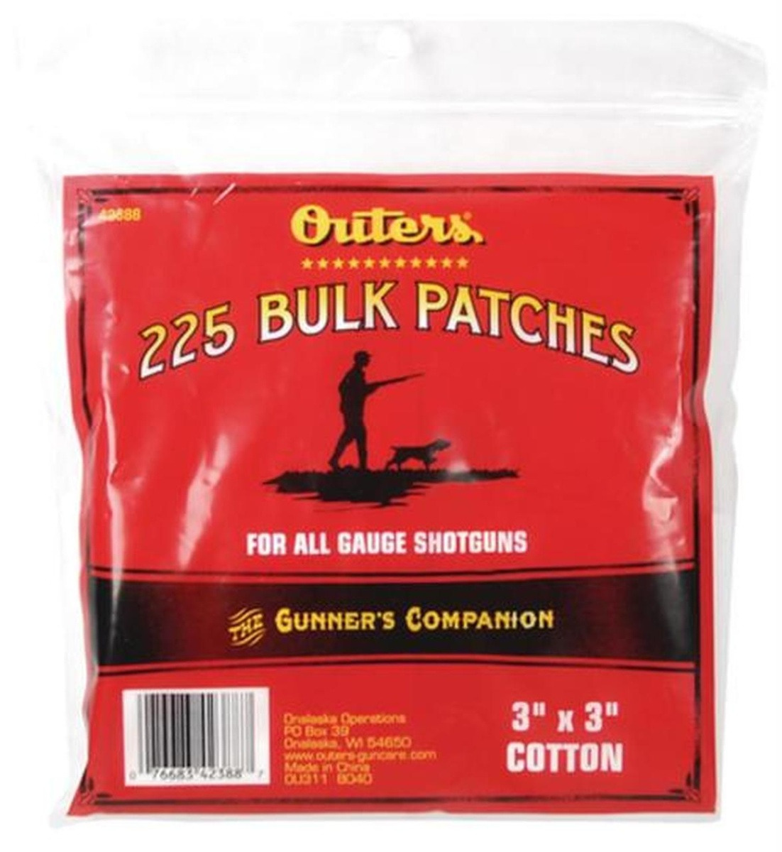 Outers Bulk Patches Shotgun 225 Pack