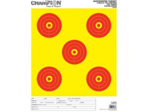 Shotkeeper Targets 5-Bull Yellow/Red Large 12 Pack
