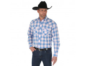 Men's Tough Enough to Wear Pink ™ Long Sleeve Western Snap Plaid Shirt