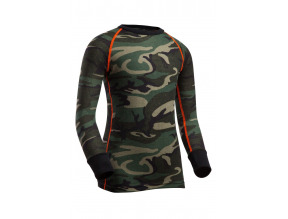 Indera Youth Woodland Camo Thermal Top