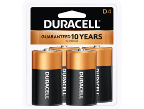 Duracell CopperTop D Alkaline Batteries - 4 count