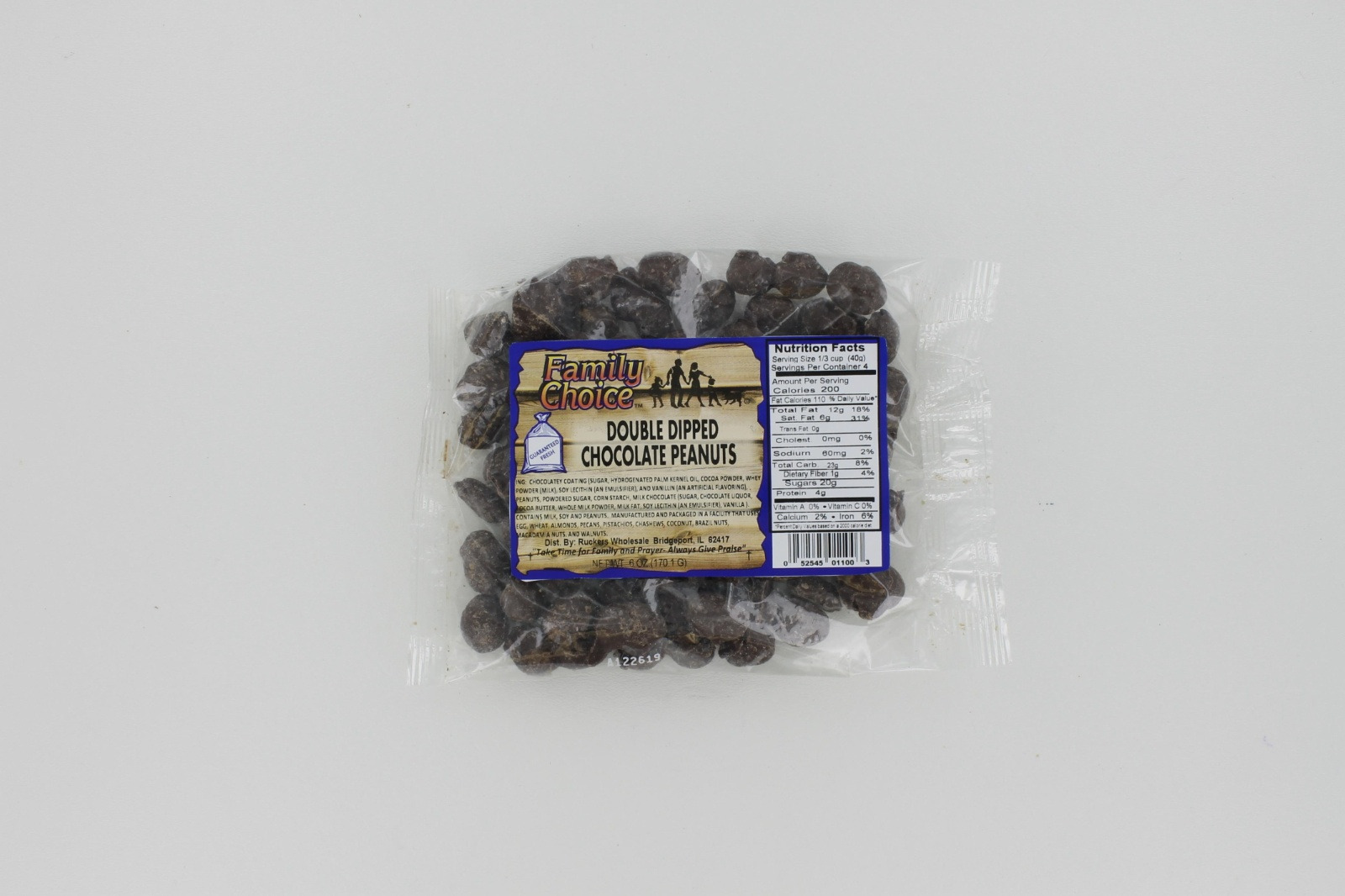 Double-Dipped Chocolate Peanuts 6 oz