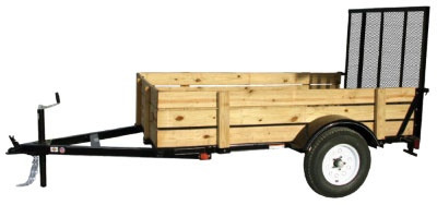 Carry-On Utility Trailer 5x8 Woody