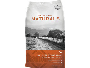 Diamond Naturals Chicken & Rice Formula All Life Stages Dry Dog Food 40lb