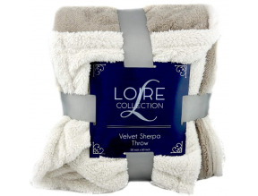 LOIRE Flannel Sherpa Throw Blanket - Assortment