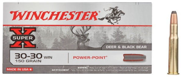 Winchester SuperX .30-30 150 Grain 20 Round Box Front of Box with Bullet