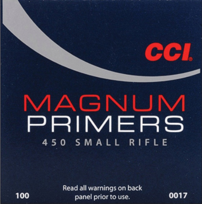 CCI 450 Mag Small Rifle Primers 100 Pack