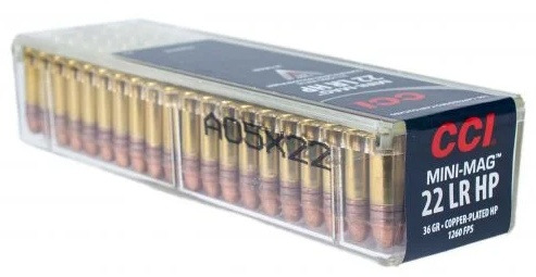 CCI Mini-Mag .22LR Ammunition 36 Grain Plated Hollow Point