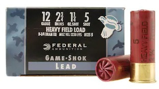 Federal Premium Game Shok Upland Heavy Field Load 12 Gauge Shotshells #5 Info