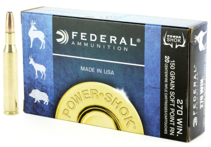FFederal Premium Power-Shok .270 Winchester 150 Grain Soft Point Round Nose