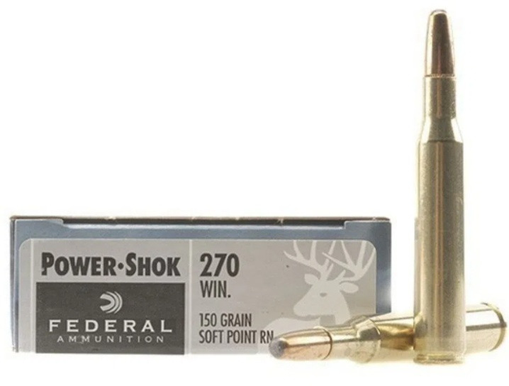 Federal Premium Power-Shok .270 Winchester 150 Grain Soft Point Round Nose Info