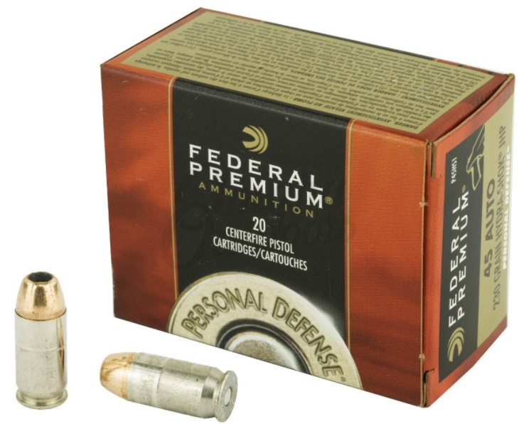 Federal Premium Personal Defense 45 ACP AUTO 230 Grain Hydra-Shok Jacketed Hollow Point