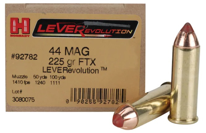Hornady LEVERevolution 44 Remington Magnum 225 grain FTX