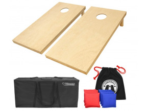 Go Sports Solid Wood Premium Cornhole Set