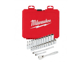 "Milwaukee 1/4"" Drive 28pc Ratchet & Socket Set - Metric"