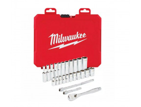 "Milwaukee 1/4"" Drive 26pc Ratchet & Socket Set - SAE"