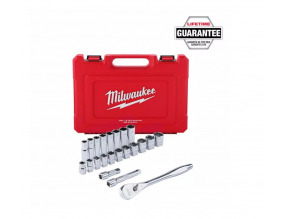 "Milwaukee 1/2"" Drive 22pc Ratchet & Socket Set - SAE"